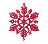 Christmas snowflake on white