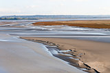 Sea coast at low tide, Saint Michael's, France