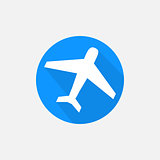 Simple plane travel icon vector
