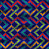 Seamless knitted colorful pattern