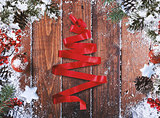 Ribbon xmas tree decoration