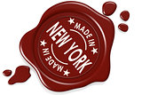 Label seal of made in New York