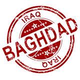 Red Baghdad stamp