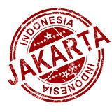 Red Jakarta stamp