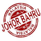 Red Johor Bahru stamp
