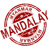 Red Mandalay stamp