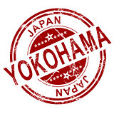 Red Yokohama stamp