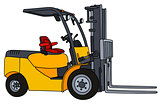 Yellow small forklifts