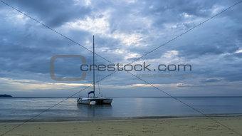 Klong Prao Beach. Boat