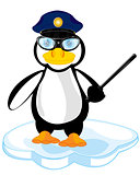 Cartoon of the penguin police