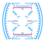 Futuristic dashboard. Sight for devices. Eps 10 vector illustration