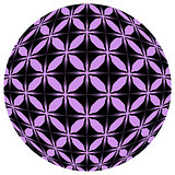 Black and purple mosaic ball