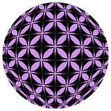 Black and purple mosaic ball