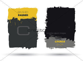 Abstract modern grunge banners
