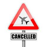 RoadSign Flight Cancelled