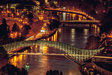 Night panoramic view of Tbilisi