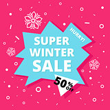 Super winter sale banner