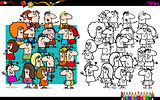 people group coloring book