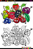 funny fruits coloring book