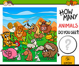 count animals game for kids