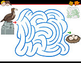 maze activity with eagle