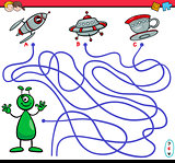 path maze game with alien