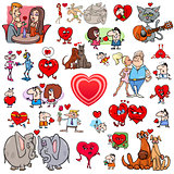 valentine big cartoon set