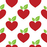 Red Apple Heart seamless