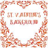 Floral Pattern, Valentine Hearts