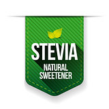 Stevia - Natural Sweetener ribbon vector