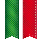 Vector ribbon bookmark