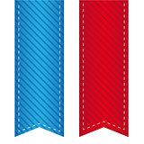 Vector ribbon bookmark