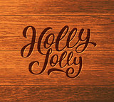 Holly Jolly calligraphic text for Christmas card