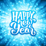 Happy New Year typography on festive background