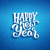 Happy New Year vector greeting card design