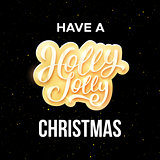 Have a Holly Jolly Christmas greeting card