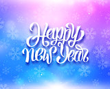 Happy New Year colorful magic background