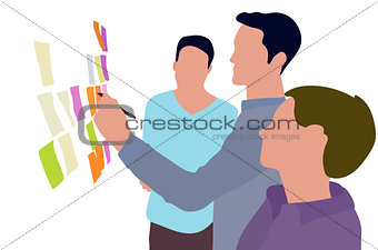 Brainstorm illustration of business people