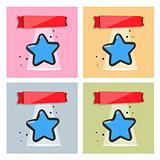 Stars set vector.