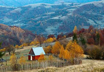 Autumn in the Carpathian mountains