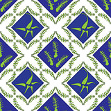 Fern Leaves Floral Seamless Pattern