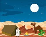 Nomad in desert