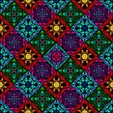 Fluorescent mushroom seamless tapestry