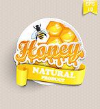 Sticker with honey.