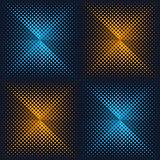Abstract vector halftone origami design