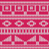Seamless knitted pattern christmas sweater design