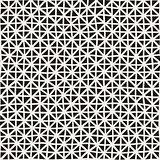 Hand Drawn Line Lattice. Vector Seamless Black and White Pattern.