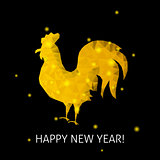 Gold Rooster Happy New Year