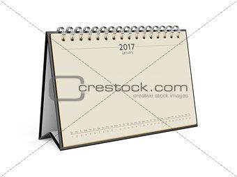 Calendar for 2017 january