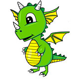 Cute Cartoon Baby Dragon